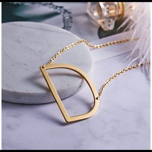 Jewelry - Sideways Large Initial Necklace. Initial D necklac